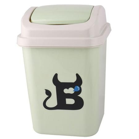 Home bathroom roll swing lid wastebasket garbage trash can dustbin Lidded trash can for bathroom