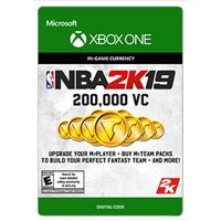 NBA 2K19 200,000 VC, 2K Games, Xbox, [Digital Download]