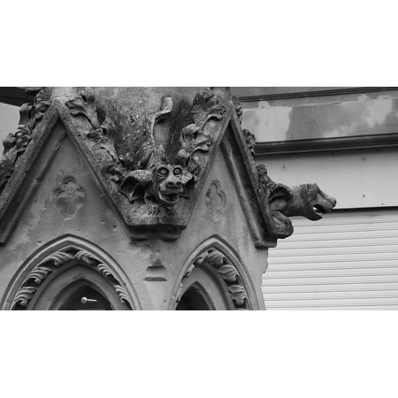 Canvas Print Gothic Gargoyles France Stone Carvings Stretched Canvas 10 x 14 ()