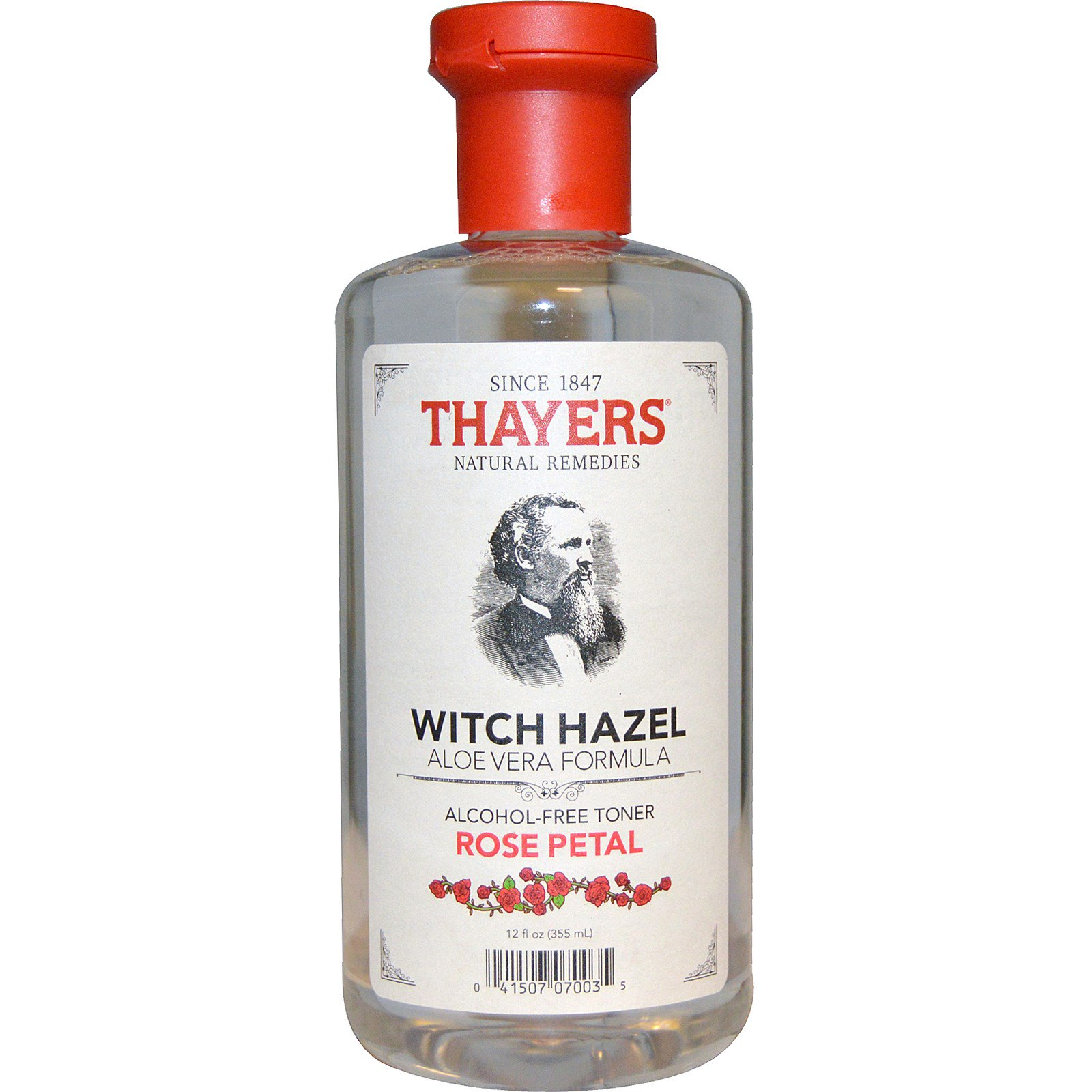Thayers, Witch Hazel, Aloe Vera Formula, Alcohol-Free Toner, Rose Petal, 12 fl oz(pack of 6)