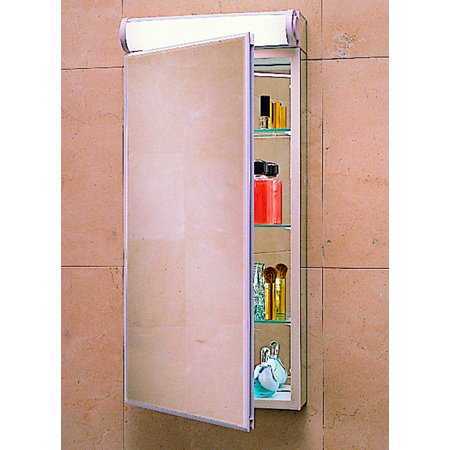 Robern PLM2030BB 19 1/4in Reversible Hinged Single Door Mirrored Medicine Cabinet