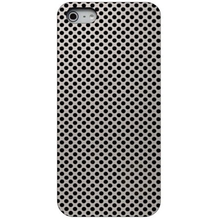 Aluminum Hard Plastic Snap (CUSTOM Black Hard Plastic Snap-On Case for Apple iPhone 5 / 5S / SE - Aluminum Holes Pattern )