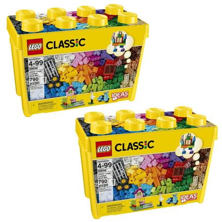 LEGO 10698 Classic Creative Bricks Kids 790 Piece Building Box Sets (2 Pack) ()
