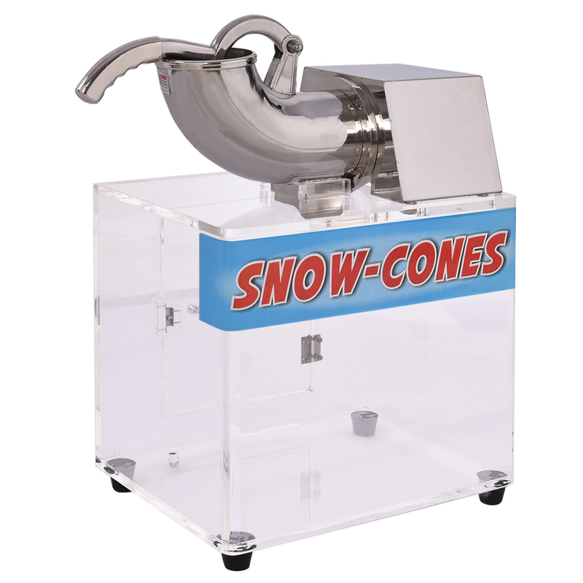 Costway Electric Snow Cone Machine Ice Shaver Maker Shavi...