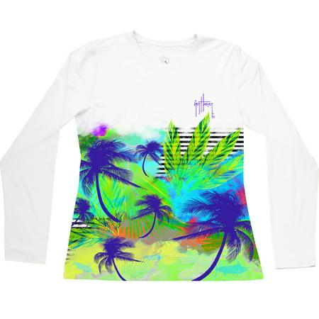 Guy Harvey Women's Chasin The Sunset Long Sleeve Performance Shirt XL