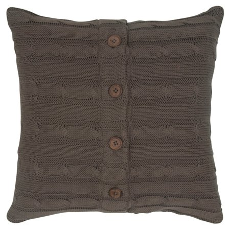 Rizzy home cable knit buttoned back cotton decorative - Fabric for throw pillows ...
