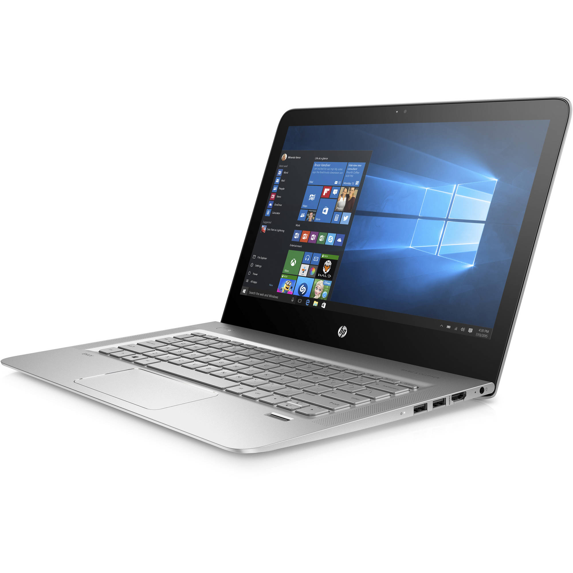 "HP Envy 13-d040wm 13.3"" Laptop,  Quad HD+ Display, Windows 10, Intel Core i7-6500U Processor, 8GB Memory, 256GB  Solid State Drive, Natural Silver"