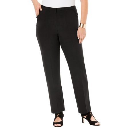 Roaman's Women's Plus Size Suiting Trouser Suiting Menswear Pant