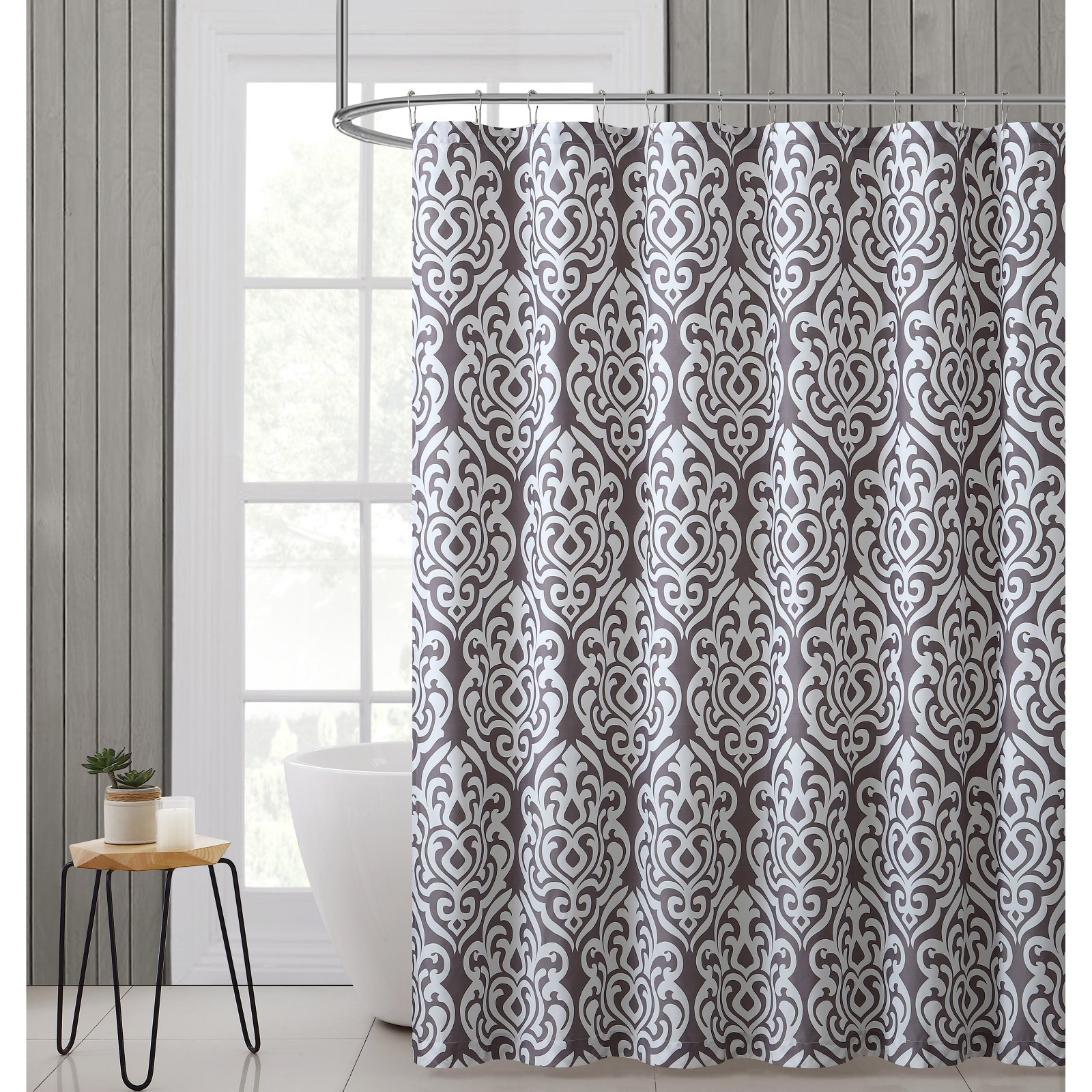 "VCNY Home Gray Cane Damask 72""x72"" Shower Curtain"