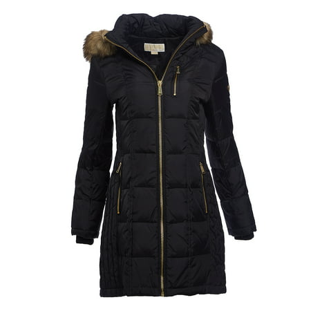 e47f8a0e635c1 Michael Kors - Black Winter Jackets for Women Michael Kors Puffer Down  Jacket and Coats Hooded Faux Fur-Trim Lightweight Jackets Online -  Walmart.com