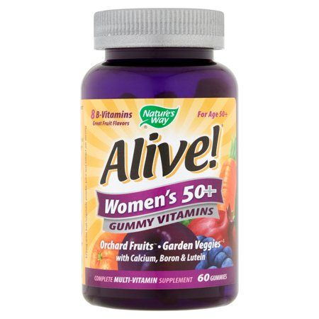 Natures Way Alive  Womens 50  Gummy Vitamins Gummies  60 Count