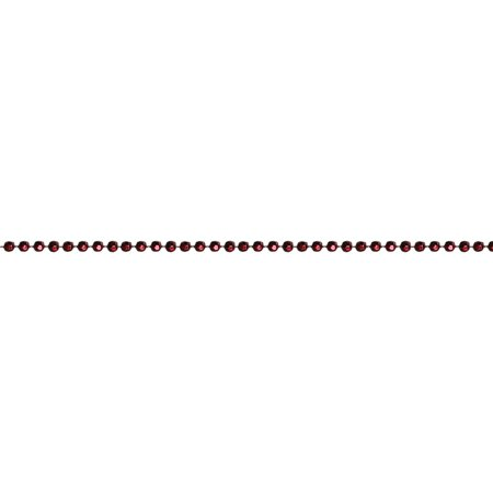 Adore Crimson Red (Shiny Metallic Faceted Crimson Red Beaded Christmas Garland 15' x)
