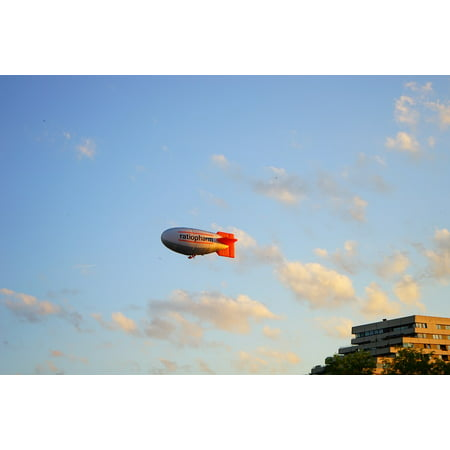 Zeppelin Aircraft (Canvas Print Fly Airship Aircraft Zeppelin Aviation Sky Float Stretched Canvas 10 x)