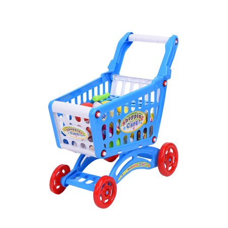 Playworld Kitchen Connection Shopping Cart 57 Pieces - Blue Playworld Kitchen Connection Shopping Cart 57 Pieces - Blue