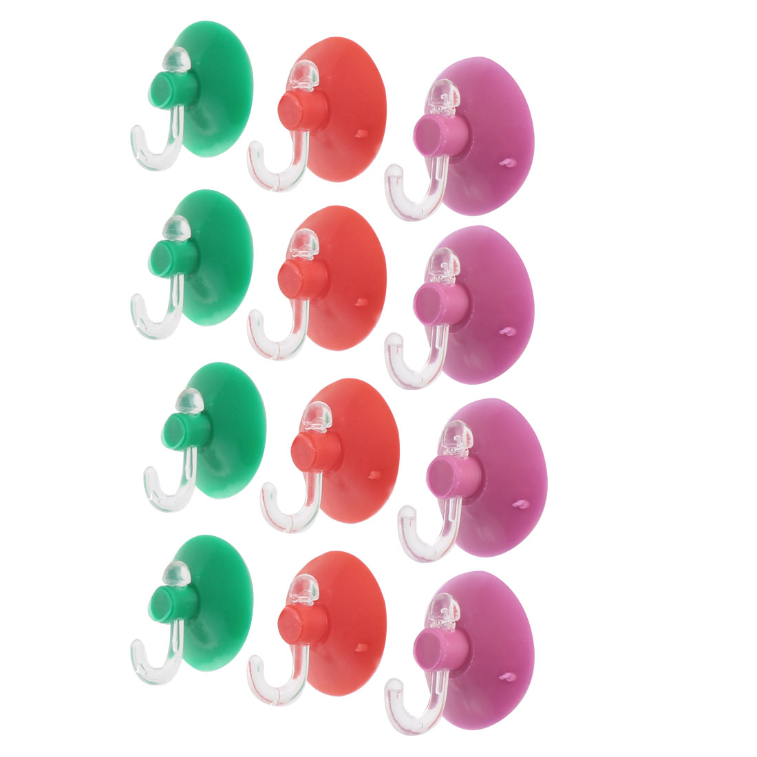Kitchen Bathroom Plastic Suction Cup Wall Window Towel Holder Hook Hanger 12pcs