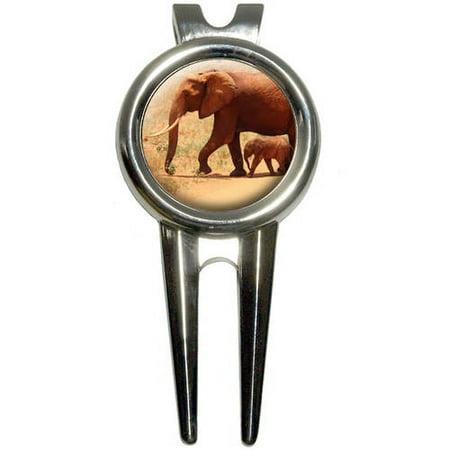 Elephant with Baby Golf Divot Repair Tool and Ball Marker - Toddler Golf