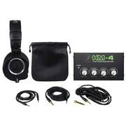 Audio Technica ATH-M50X Studio Monitor Headphones+4-Way Distribution Amplifier