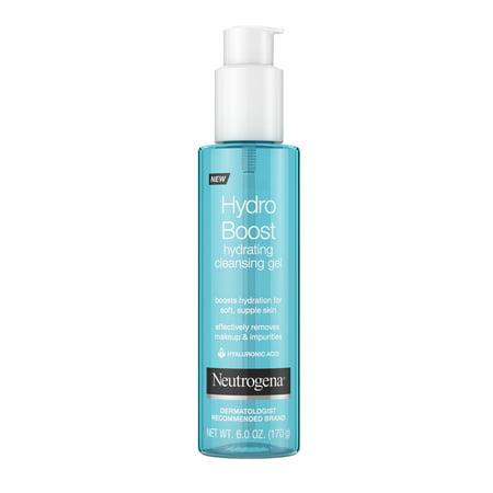 Neutrogena Hydro Boost Gel Facial Cleanser, All Skin Types, Hypoallergenic, 6 oz
