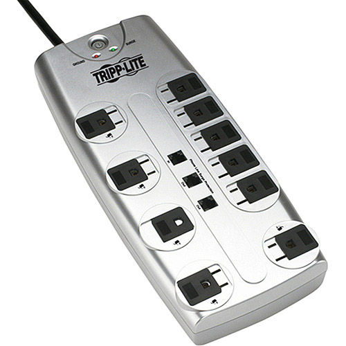 Tripp Lite Tlp1008tel 10-outlet Surge Protector With Telephone Protection (without Coaxial Protection)