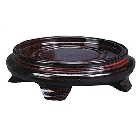 JapanBargain 3114, Decorative Rosewood Wooden Bowl Vase Stand ()