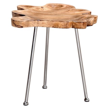 Worldwide Home Furnishings Solid Wood Accent Table ()