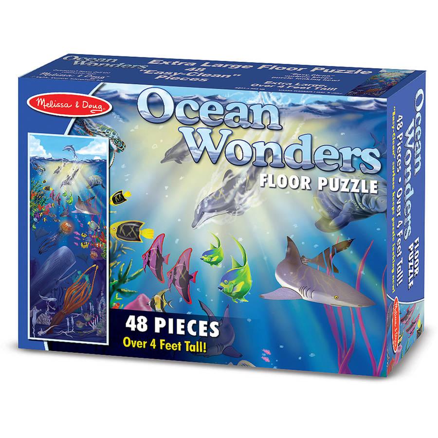 Generic Melissa & Doug Ocean Wonders Jumbo Jigsaw Floor Puzzle (48 pcs, over 4 feet long)