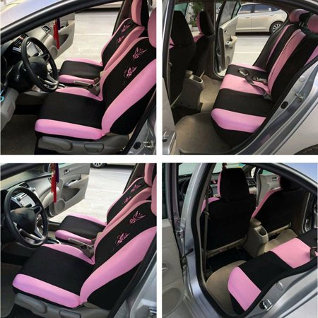 Strange Butterfly Fashion Style Front Rear Universal Car Seat Covers Beatyapartments Chair Design Images Beatyapartmentscom