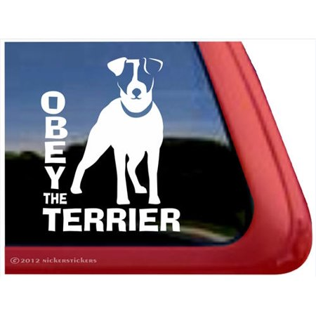 Obey the Terrier | High Quality Vinyl Jack Russell Terrier Dog Window - Rydell High