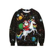 Men's Women Santa Xmas Sweatshirt Pullover Jumper Christmas Winter Warm Tops