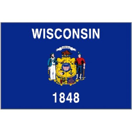 3x5 Wisconsin Flag Polyester State Banner 3