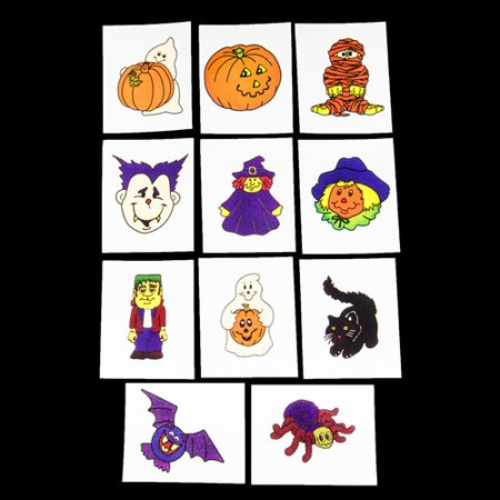Glow in the Dark Halloween Temporary Tattoos - 36 per pack - Glow In Dark Tattoo