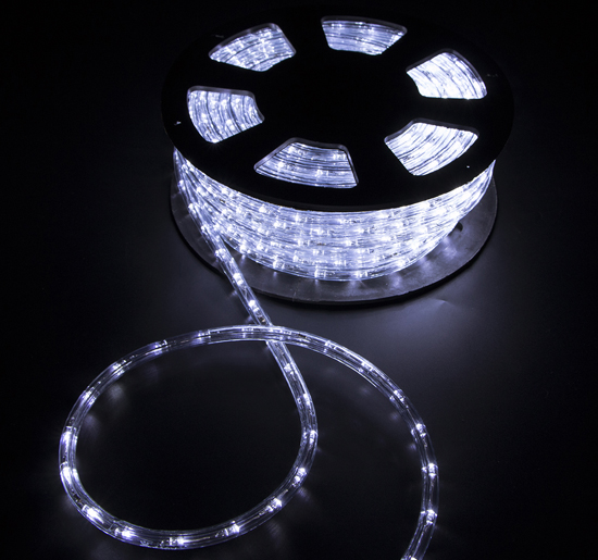 50'ft 2 Wire LED Rope Light Home Party Outdoor Christmas Decorative Lighting 110v - Cool White