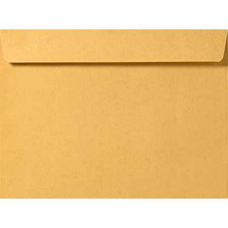 Brown Kraft Booklet Envelopes on 28lb. Pack of 50 (9 1/2 x 12 5/8)