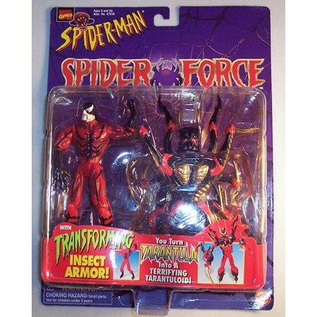 ToyBiz, Marvel Comics, Spider-Man Spider-Man Spider-Force Tarantula with Transforming Insect Armor Action Figure (Spider Tarantula)