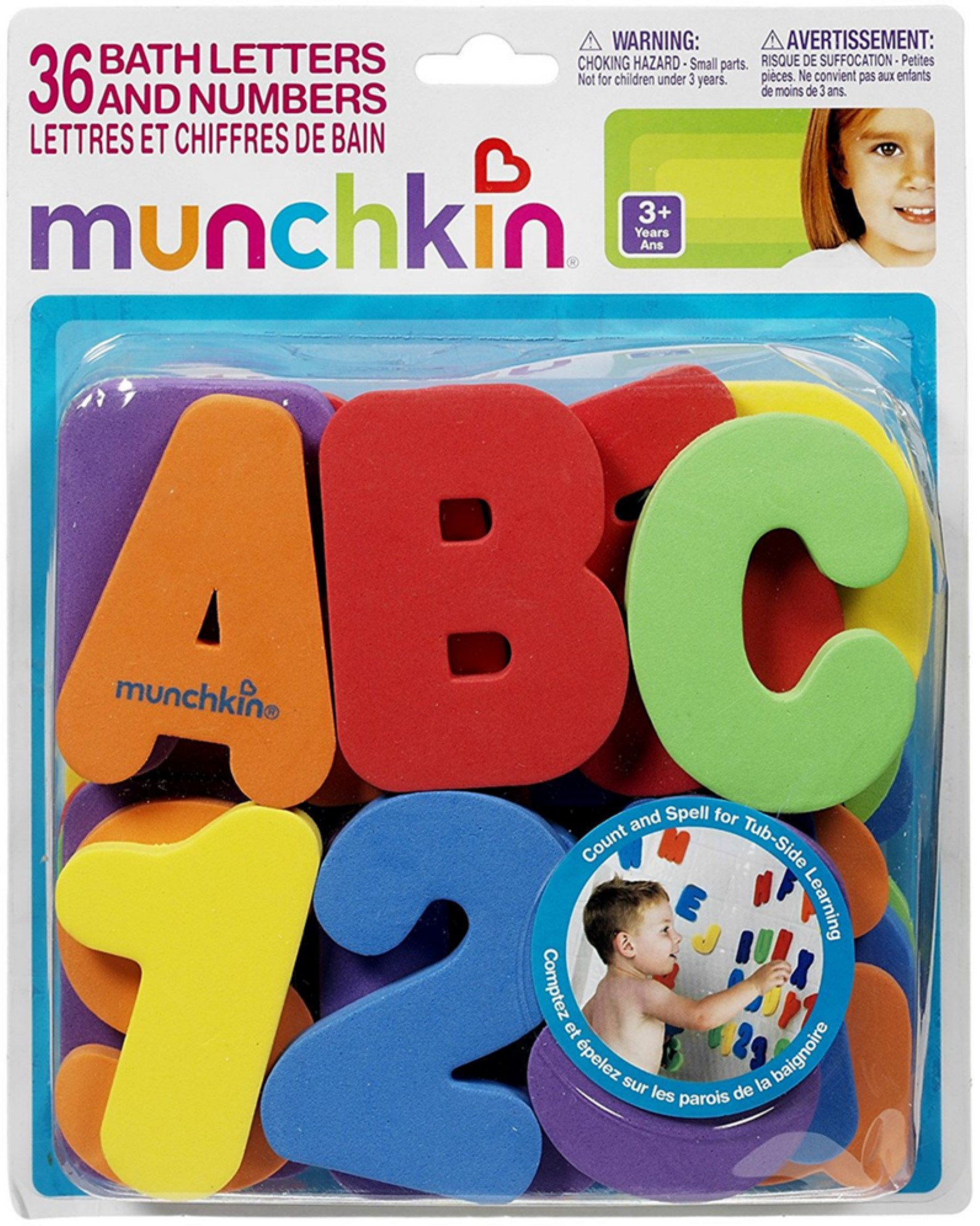 Munchkin Bath Letters & Numbers Bath Toys 1 ea (Pack of 2) by Munchkin