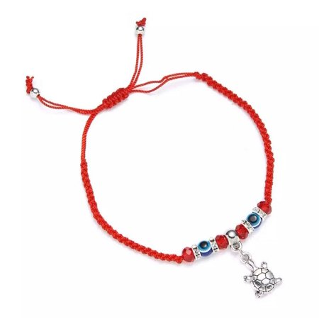 Evil Eye Red String Sea Turtle Charm Protection Bracelet. Lucky Eye Bracelet, Sea Turtle Red String. Red Bracelet. Red String Bracelet