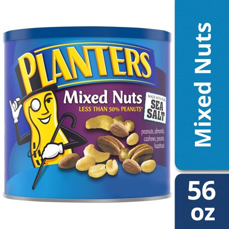 Planters Mixed Nuts, Lightly Salted, 56.0 oz Canister (Planters Mixed Nuts 56 Oz)