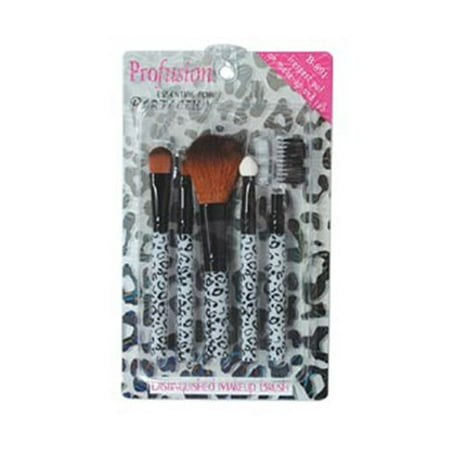 Profusion Makeup Brush and Comb Set, Leopard Theme - All in One, Set of 5