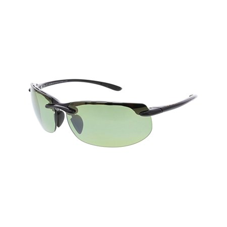 Maui Jim Men's Banyans HT412-02 Black Semi-Rimless Sunglasses