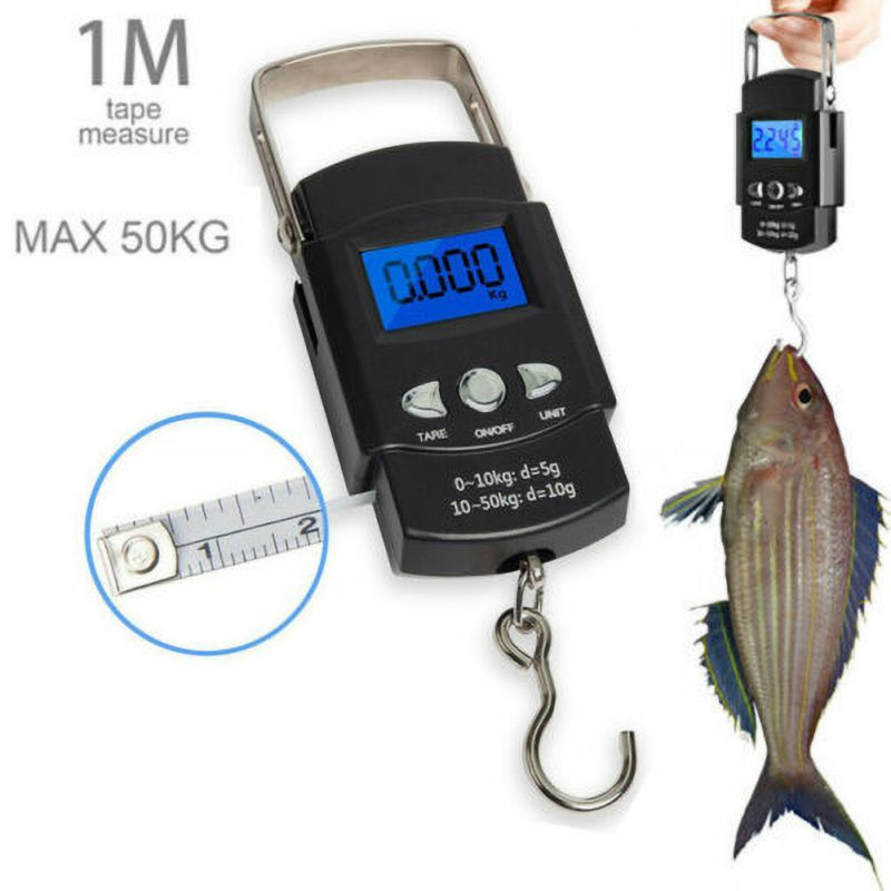Details about  /50kg Digital Travel Fish Luggage Postal Hanging Hook Electronic Weighing Scale