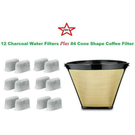 Cuisinart DCC-RWF-12-GTF Cone Shape Permanent Coffee Filter & Charcoal Water Filter - Walmart.com