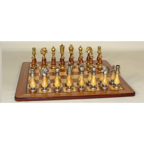WorldWise Chess Set with Padauk Board and Staunton Men by World Wise Imports