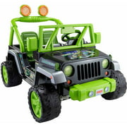 Fisher-Price Power Wheels Teenage Mutant Ninja Turtles Jeep Wrangler 12-Volt Battery-Powered Ride-On