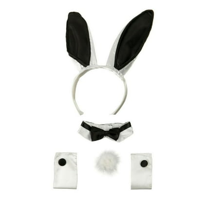Tuxedo Playboy Bunny Tail Ears Rabbit Costume Accessory Kit Cocktail Headband for $<!---->