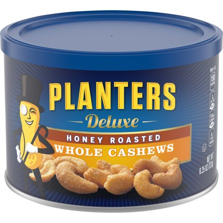 Planters Deluxe Honey Roasted Whole Cashews, 8.25 oz (Best Honey Roasted Peanuts)