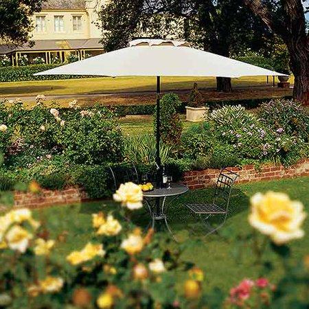 Coolaroo 11' Round Aluminum Umbrella, Smoke Color ()