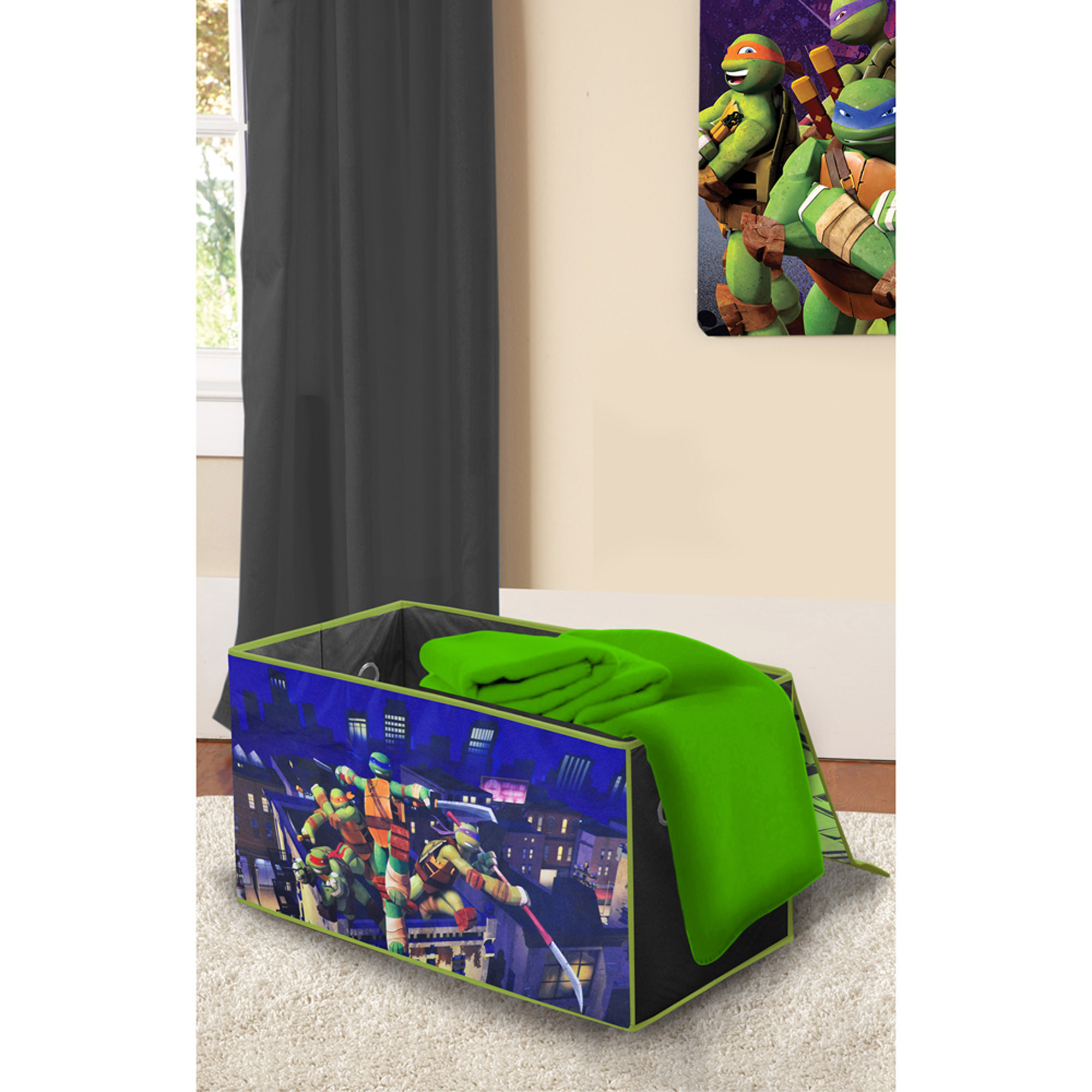 Teenage Mutant Ninja Turtles Oversized Soft Collapsible Storage Toy Trunk