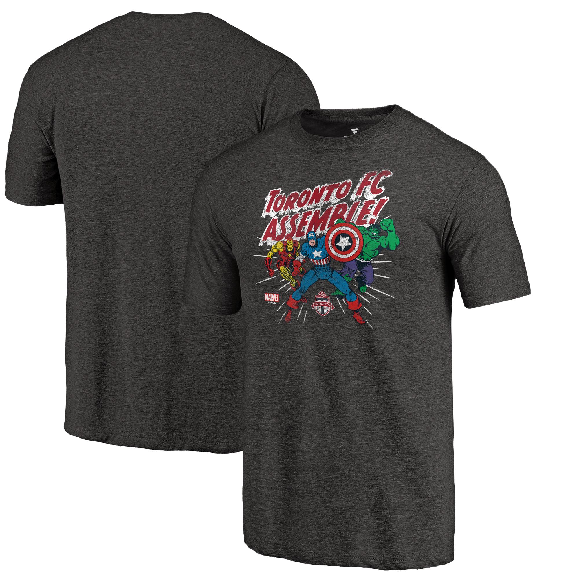 Toronto FC Fanatics Branded Marvel Avengers Assemble Tri-Blend T-Shirt - Black