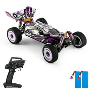 Wltoys 124019 RC Car for Adult Kid,1/12 2.4GHz 60km/h High Speed Racing Off-Road Drift Car RTR 4WD Aluminum Alloy Chassis Zinc Alloy Gear with 2 Batteries