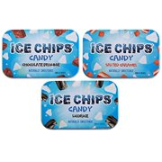 ICE CHIPS Candy 3 Pack Assortment (Chocolate Brownie, Salted Caramel, Licorice)